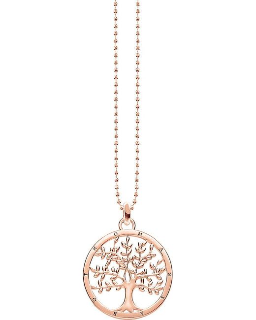 Thomas Sabo | Metallic Tree Of Love 18ct Rose Gold-plated Sterling Silver Necklace | Lyst