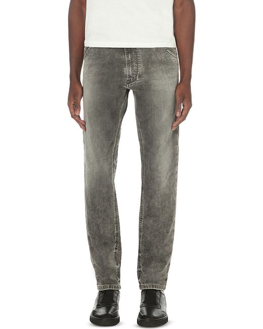 diesel krooley 0855b jogg jeans in gray for men lyst. Black Bedroom Furniture Sets. Home Design Ideas