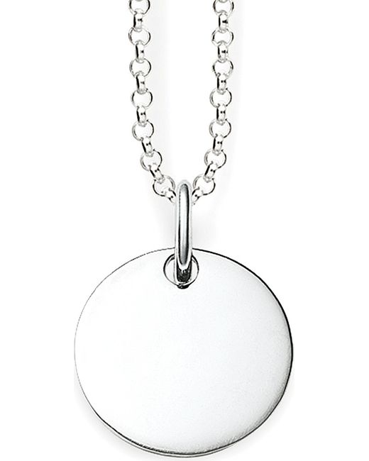 Thomas Sabo | Metallic Love Bridge Sterling Silver Round Tag Necklace | Lyst