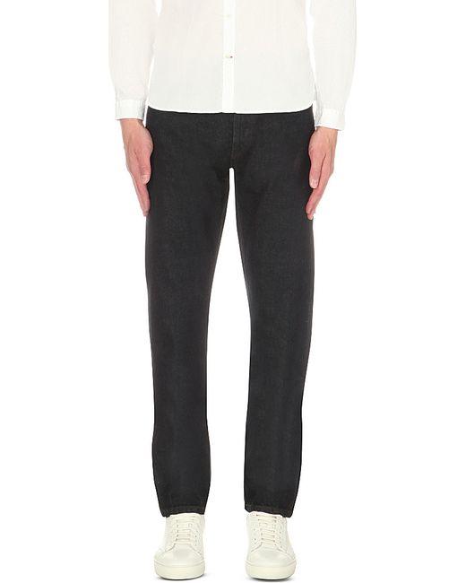 oliver spencer slim fit tapered selvedge jeans in black for men lyst. Black Bedroom Furniture Sets. Home Design Ideas