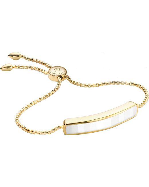 Monica Vinader   Metallic Baja 18ct Gold-plated Vermeil And White Chalcedony Bracelet   Lyst