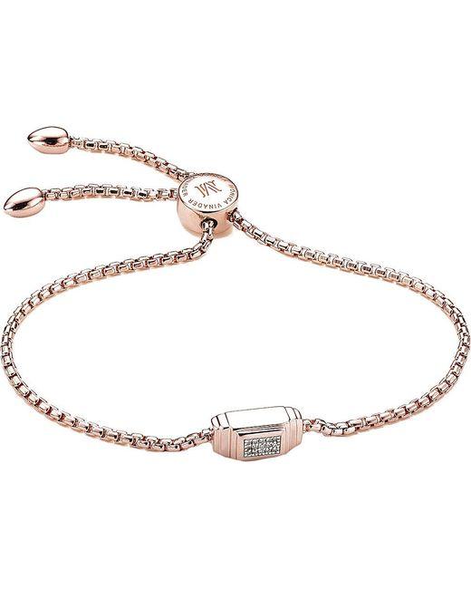 Monica Vinader | Metallic Baja Deco 18ct Rose Gold And Diamond Bracelet | Lyst