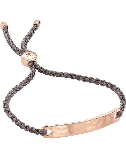 Monica Vinader | Pink Havana 18ct Rose Gold-plated Friendship Bracelet for Men | Lyst