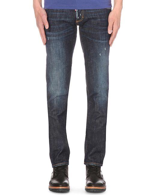 DSquared² | Black Cloud Sky Distressed Slim Jeans for Men | Lyst