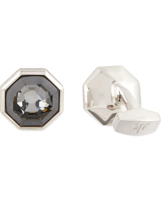 Tateossian | Gray Rotondo Guilloché Cufflinks And Shirt Studs Set for Men | Lyst