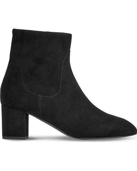 L.K.Bennett | Black Simi Suede Boots | Lyst