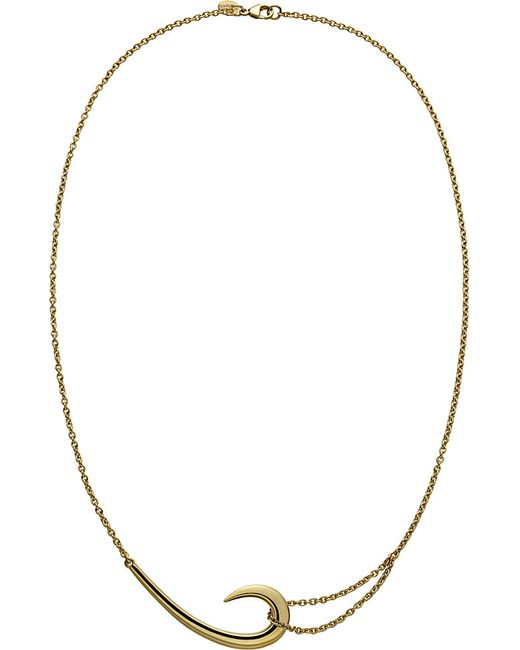 Shaun Leane | Metallic Sterling Silver And Gold-plate Hook Necklace | Lyst