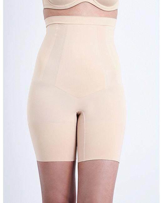Spanx | Natural Super Duper Mid-thigh Briefs | Lyst