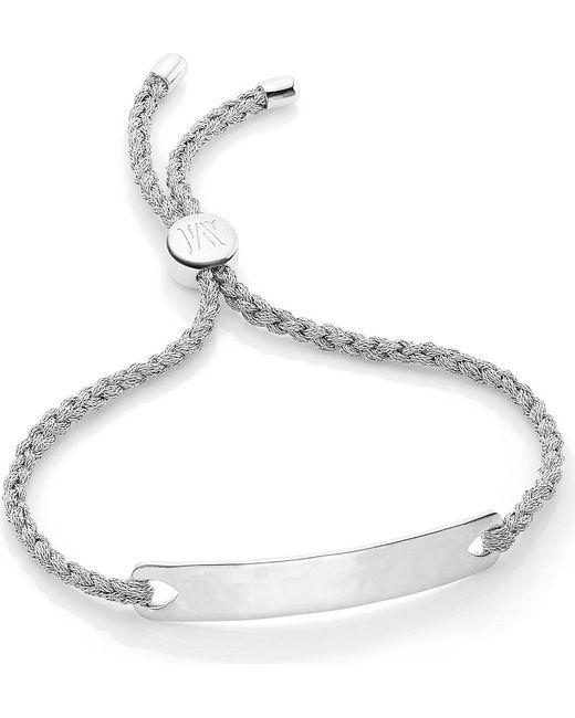 Monica Vinader | Metallic Havana Sterling Silver Friendship Bracelet | Lyst