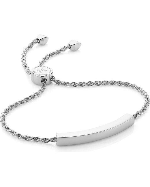 Monica Vinader | Metallic Linear Sterling Silver Chain Bracelet | Lyst
