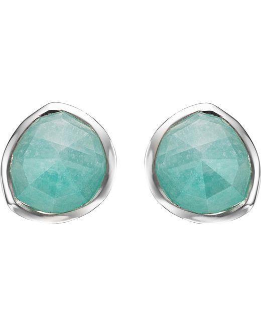 Monica Vinader | Metallic Siren Sterling Silver Amazonite Stud Earrings | Lyst