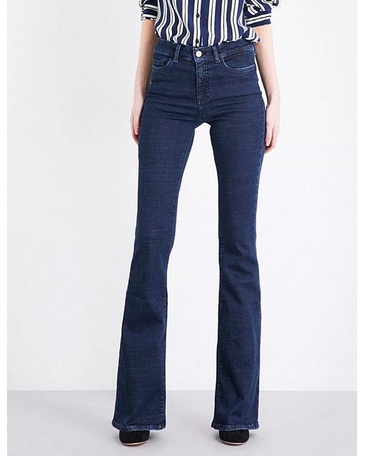 MiH Jeans | Blue Bodycon Marrakesh Flared High-rise Jeans | Lyst