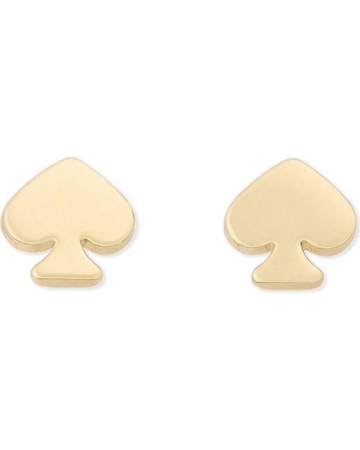 kate spade new york | Metallic Spade Mini Stud Earrings | Lyst