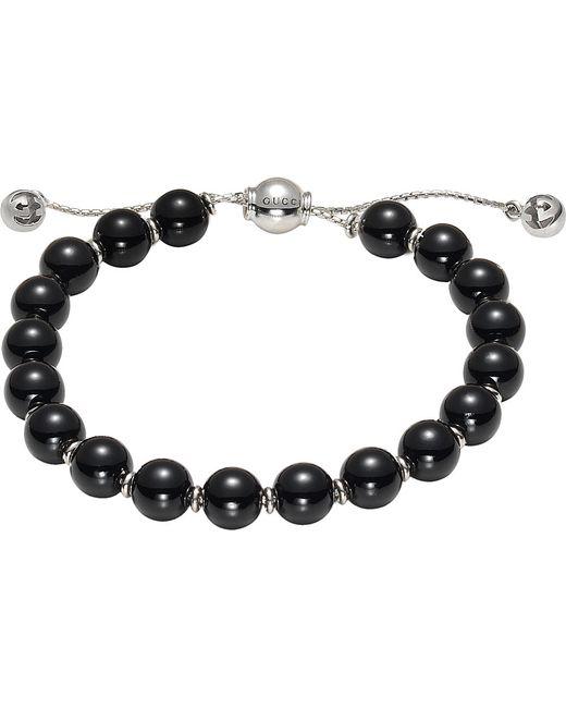 Gucci | Black Boule Britt Sterling Silver Bracelet | Lyst