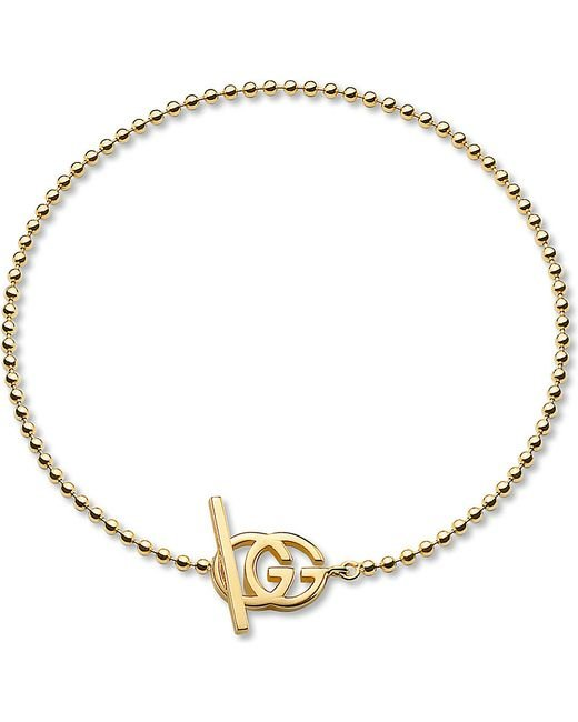 Gucci | Metallic Brand-motif 18ct Yellow-gold Bracelet | Lyst