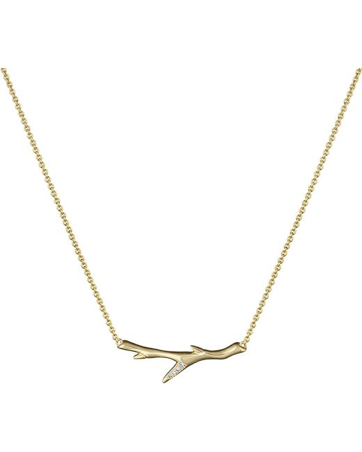 Shaun Leane | Metallic Branch Gold Vermeil And Diamond Necklace | Lyst