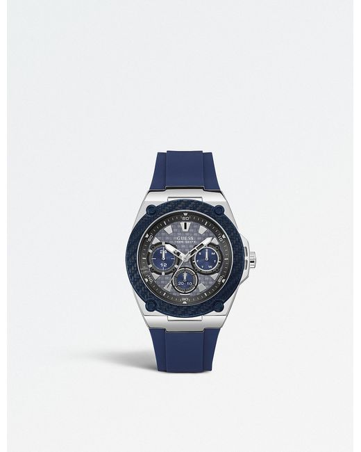 Guess - Blue W1049g1 Iconic Stainless Steel Multi-function Watch - Lyst