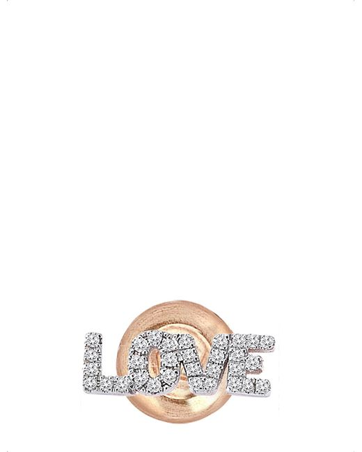 The Alkemistry | Metallic Kismet By Milka 14ct Rose-gold And Diamond Earring | Lyst