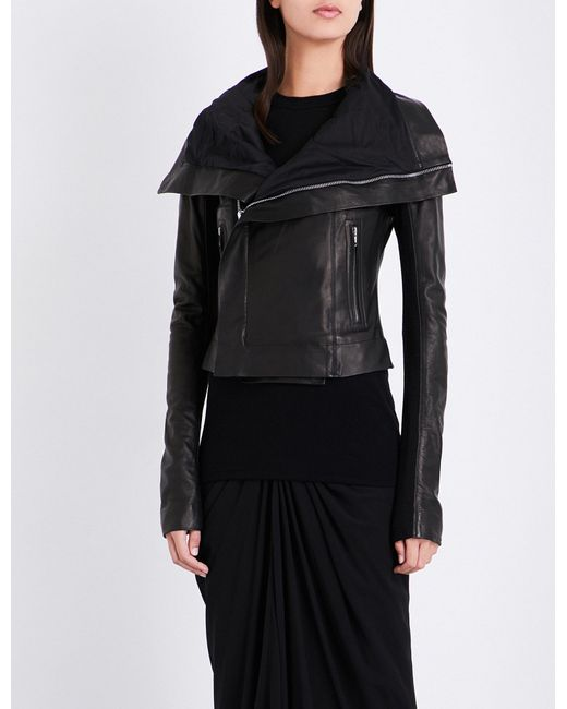 Rick Owens | Black Walrus Classic Leather Biker Jacket | Lyst
