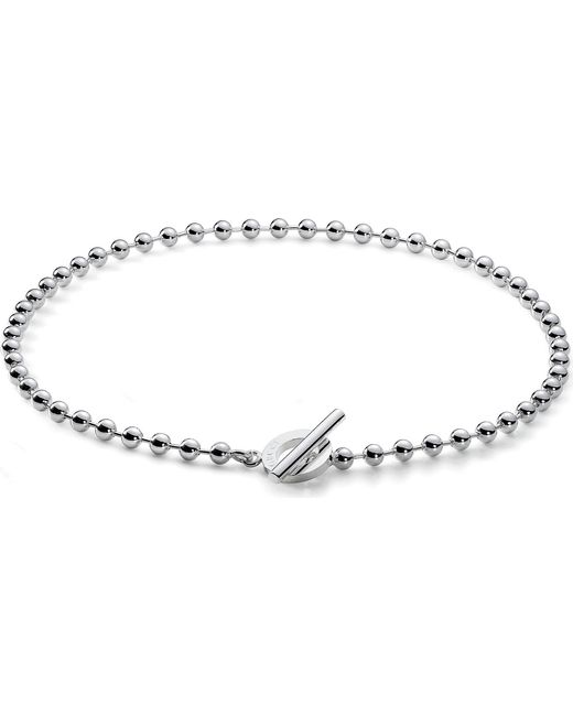 Gucci - Metallic Disc-motif Sterling Silver Necklace - Lyst