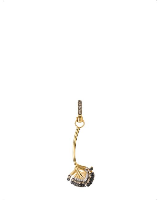 Annoushka - Yellow Mythology 18ct Gold And Diamond Falcon Feather Charm - Lyst