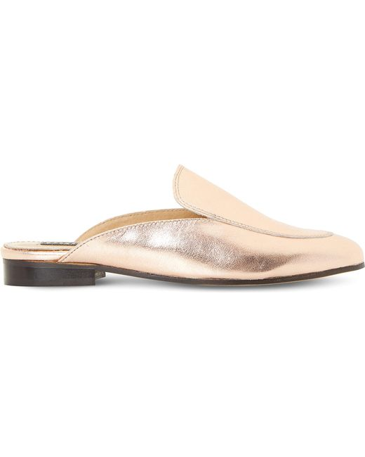 Dune Black | Guilde Metallic Leather Loafers | Lyst
