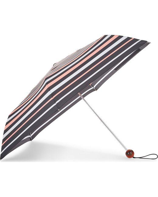 Fulton | Ladies Black Striped Ultra Light Umbrella | Lyst