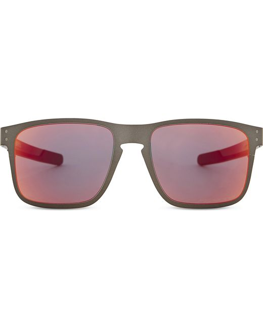Lyst - Oakley Holbrook Metal Polarised Square-frame Sunglasses