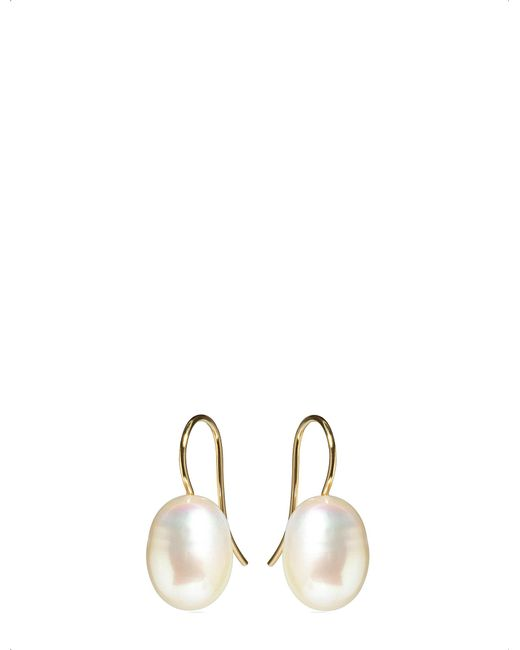 Annoushka - Metallic Classic Baroque Pearl And 18ct Yellow-gold Drop Earrings - Lyst
