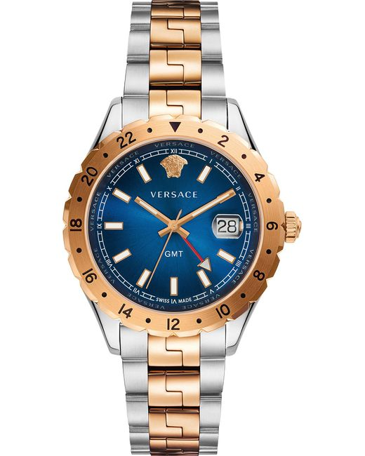 Versace - Metallic V11060017 Acropolis Gold And Stainless Steel Watch for Men - Lyst