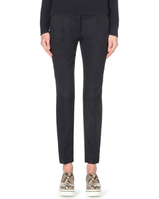 Stella McCartney | Blue Vivian Tapered Wool Trousers | Lyst