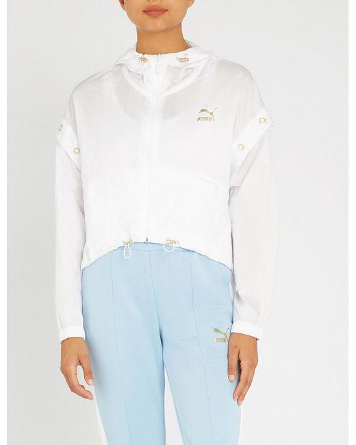 PUMA - White Retro Windrunner Shell Jacket - Lyst