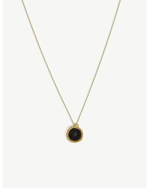 Maje - Metallic Number 4 Medallion Necklace - Lyst