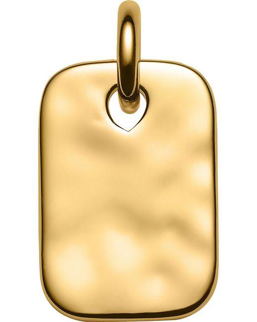 Monica Vinader | Metallic Havana Mini 18ct Gold-plated Vermeil Pendant | Lyst