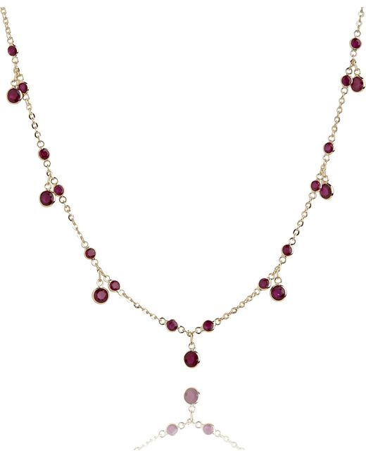 Annoushka - 18ct Yellow Gold And Ruby Nectar Cherry Droplet Necklace - Lyst