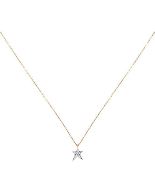 The Alkemistry - Metallic Diamond Star 14ct Rose-gold Necklace - Lyst