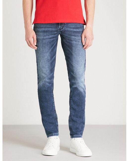 5e43041b DIESEL Thommer Slim Skinny-fit Skinny Jeans in Blue for Men - Lyst