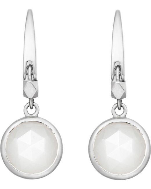 Astley Clarke - Metallic Stilla Sterling Silver Moonstone Earrings - Lyst