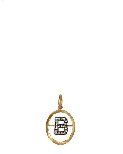 Annoushka - Metallic 18ct Yellow-gold And Diamond B Pendant - Lyst