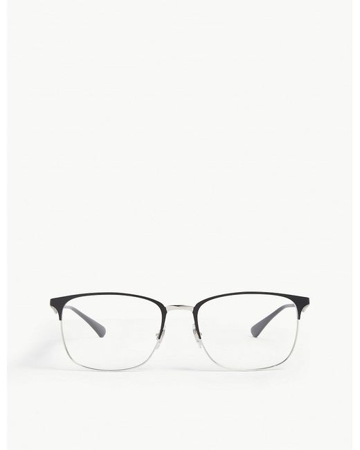 1a02a2490d Lyst - Ray-Ban Rb6421 Square-frame Glasses in Black for Men