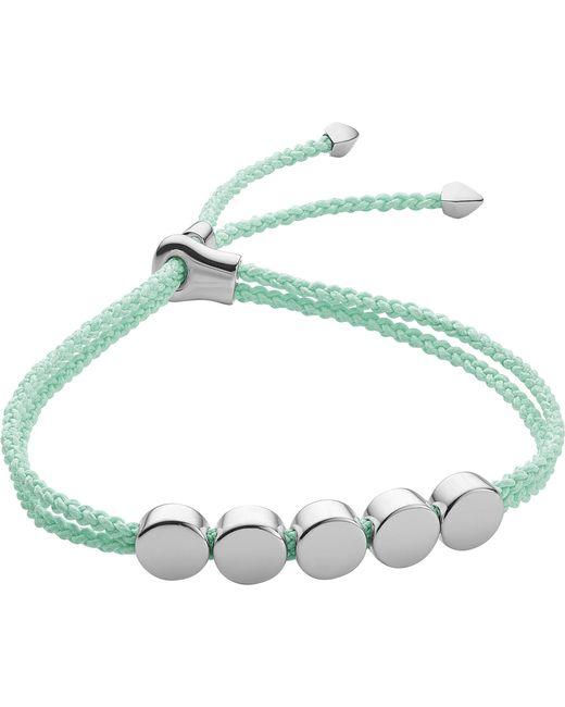 Monica Vinader - Blue Linear Bead Sterling Silver Friendship Bracelet - Lyst