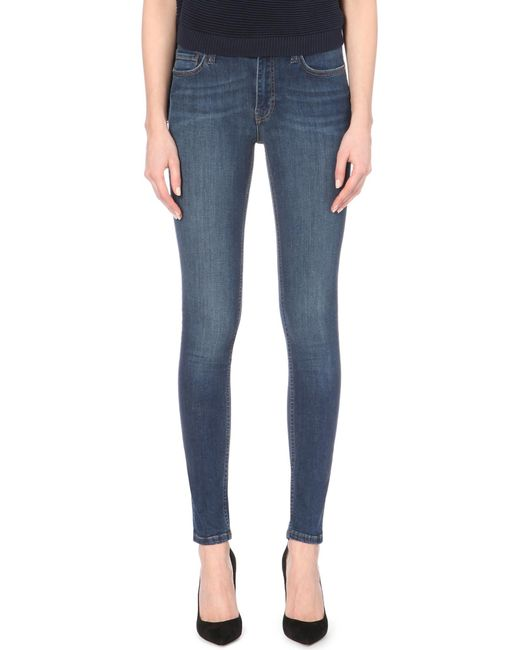French Connection | Blue Rebound High-waist Skinny Jeans | Lyst