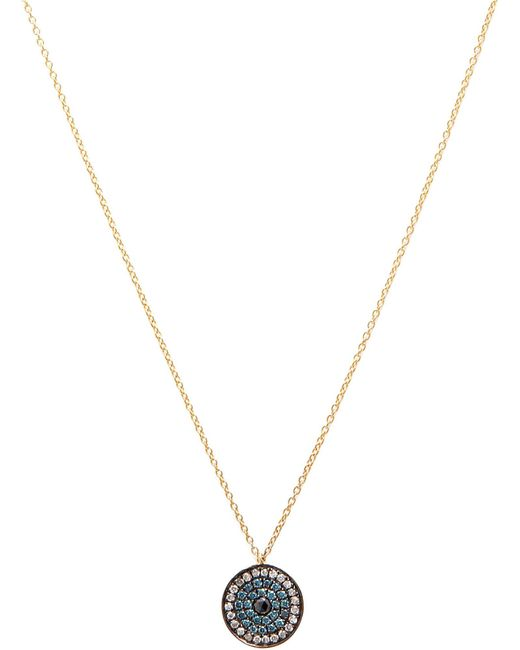 Annoushka - Love Diamonds 18ct Yellow-gold And Diamond Evil Eye Pendant Necklace - Lyst