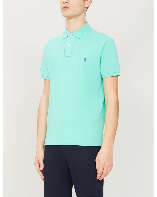 34419efdb73e Polo Ralph Lauren - Green Logo-embroidered Slim-fit Cotton-piqué Shirt for