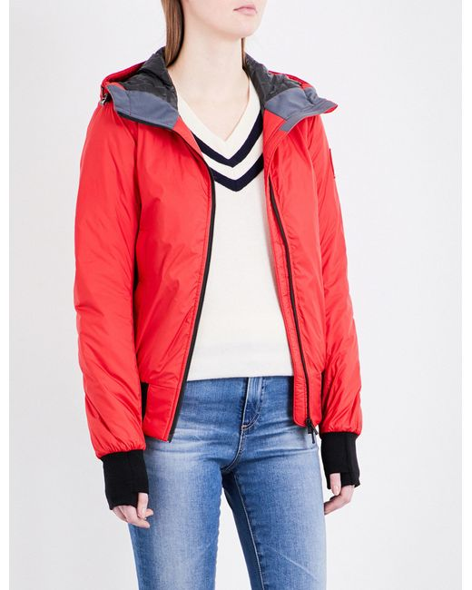 Canada Goose | Red Dore Hoody Quilted Jacket | Lyst