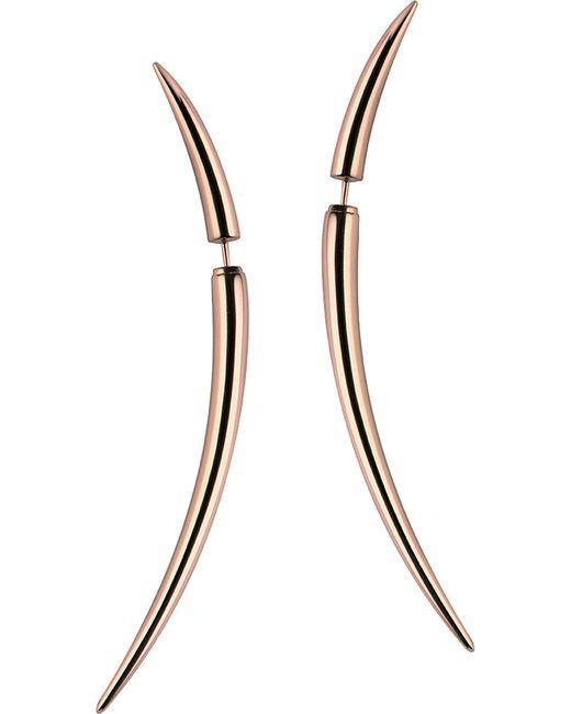Shaun Leane - Metallic Rose Gold Vermeil Quill Earrings - Lyst