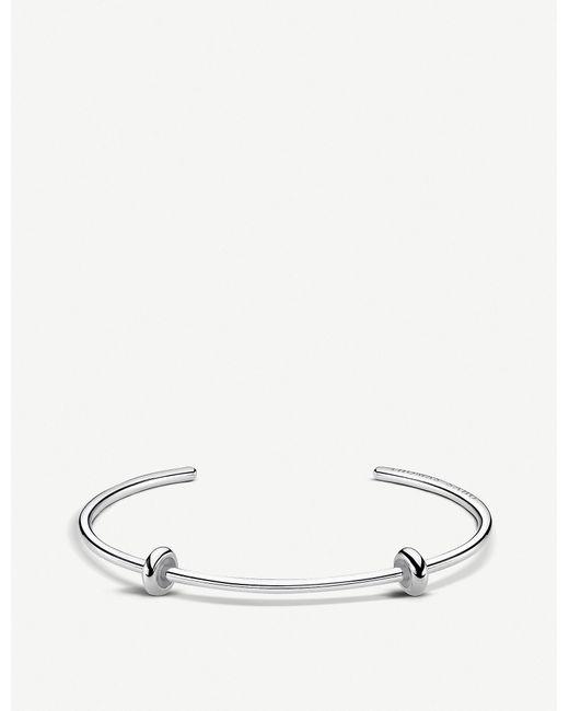 Thomas Sabo - Metallic Karma Beads Sterling Silver Bangle - Lyst