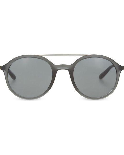 Lyst - Giorgio Armani Ar8077 Metal Top Bar Round-frame Sunglasses in ...