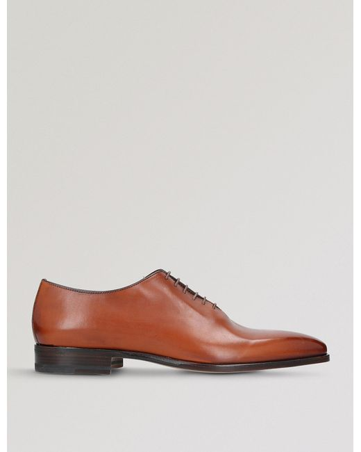 Stemar - Brown Wholecut Leather Oxford Shoes for Men - Lyst