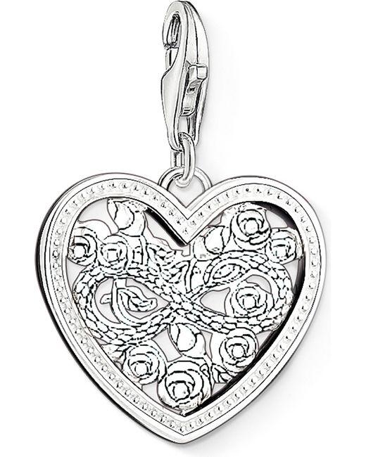 Thomas Sabo | Metallic Charm Club Silver And Zirconia Infinity Heart Charm Pendant | Lyst